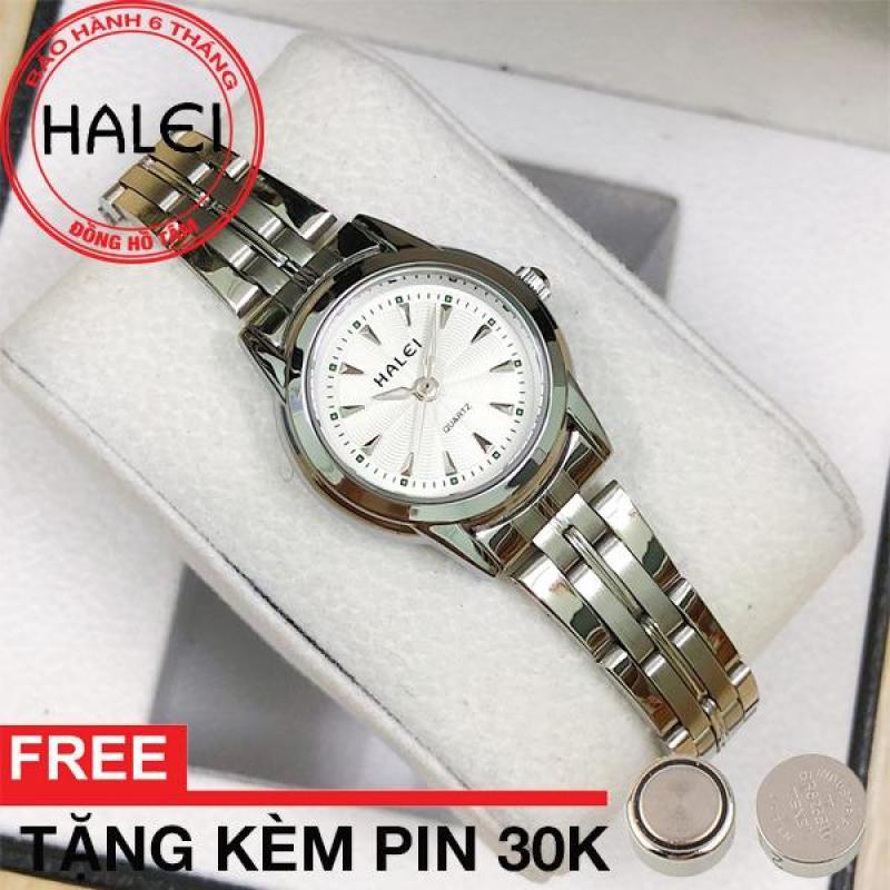 Đồng hồ nữ dây thép không gỉ Halei 348 (SW) (Bạc)