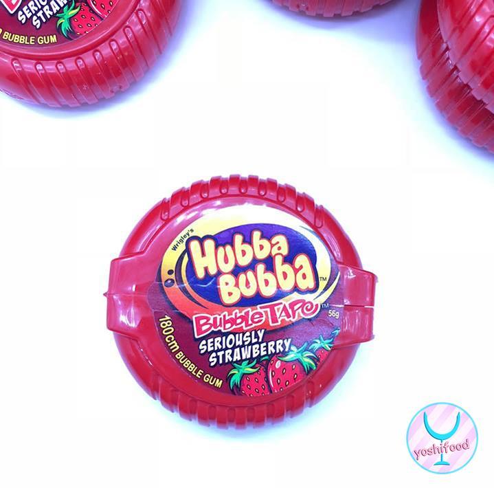 Kẹo Gum Kéo Hubba Bubba Vị Dâu
