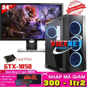 máy tính chuyên game core i5 3470 card gtx 1050 ram 8gb 500gb + lcd 24 inch
