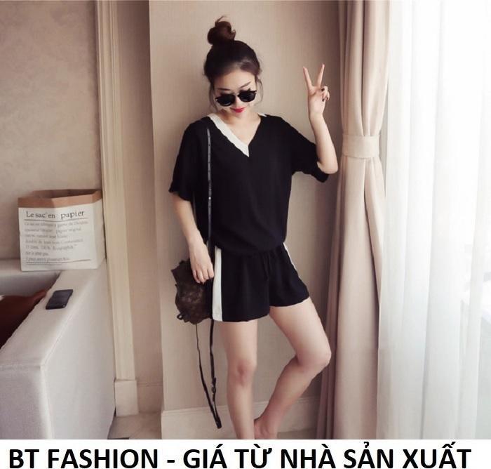 Đồ Bộ Áo Thun + Quần Đùi Sọt Trẻ Em Bé Gái 20kg - 30kg - BT Fashion (ĐBTE1-MSL)