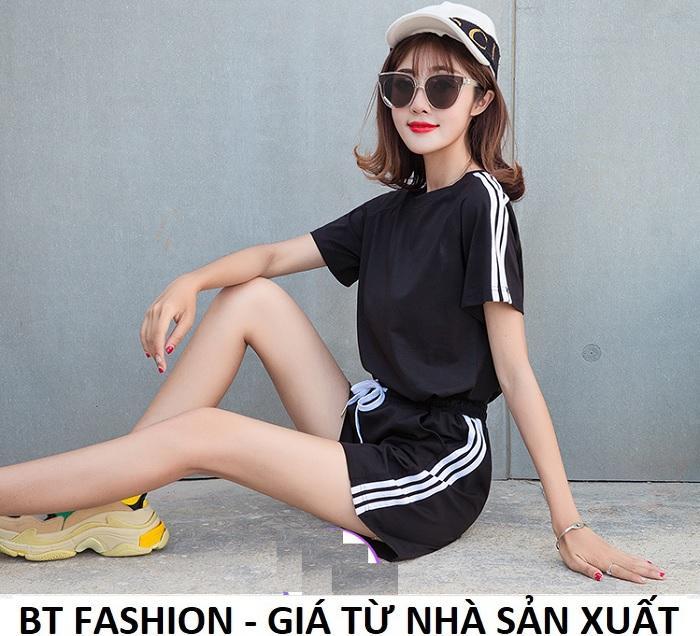 Đồ Bộ Áo Thun Nữ + Quần Đùi Sọt Thun Nữ Thể Thao, Ở Nhà, Đồ Ngủ Thời Trang Hàn Quốc Mới - BT Fashion (SO02B-3S)