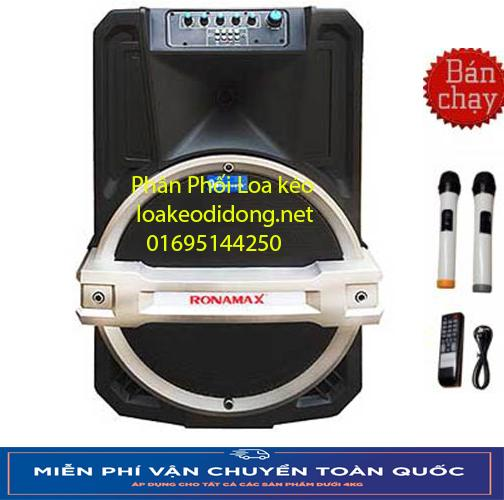 Loa vali kẹo kéo karaoke Temeisheng Ronamax T12 (3 tấc) công suất lớn hỗ trợ kết nối bluetooth di chuyển...