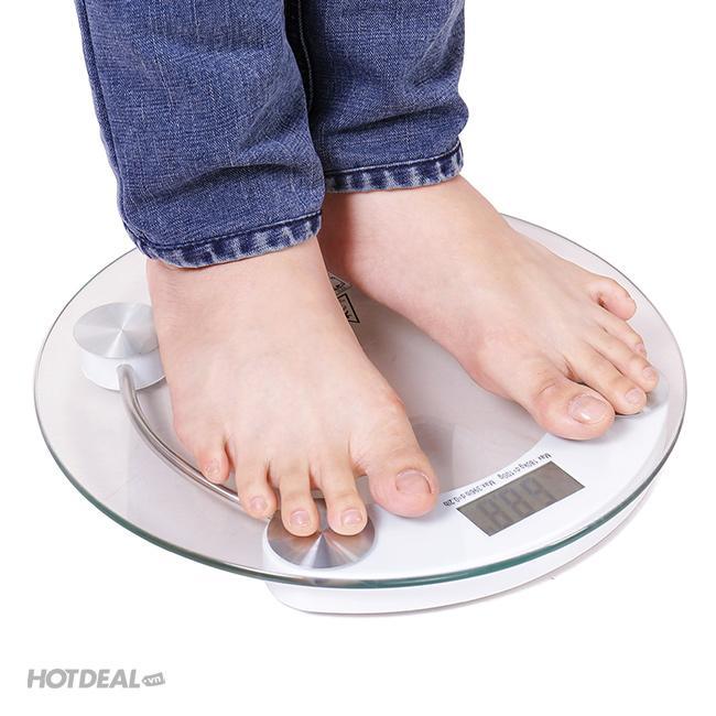 cân sức khỏe điện tử tròn