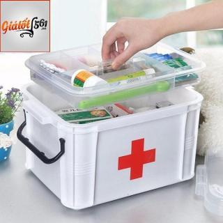 Hộp đựng thuốc y tế gia đình tránh ẩm mốc tiện ích (cỡ nhỏ) BH124 thumbnail
