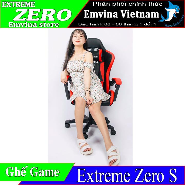 Ghế chơi game extreme zero s emvina vietnam chân xoay ngã 155 độ 2 gối tựa êm nguyên hộp đủ ốc và dụng cụ lắp đặt phù hợp ghế xoay ngồi chơi game văn phòng học tập làm việc gaming nam và nữ điều thích