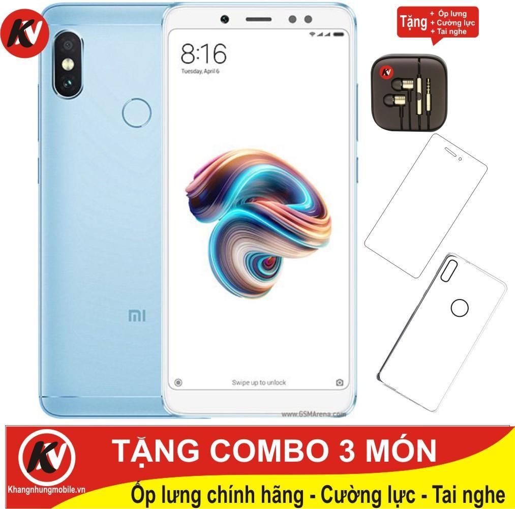 Xiaomi Redmi Note 5 Pro 32GB Ram 3GB Kim Nhung (Xanh) - Hàng nhập khẩu + Ốp lưng + Cường lực + Tai nghe