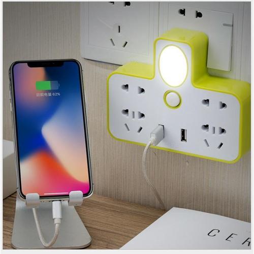 ổ cắm điện đa năng có đèn ngủ và cổng usb