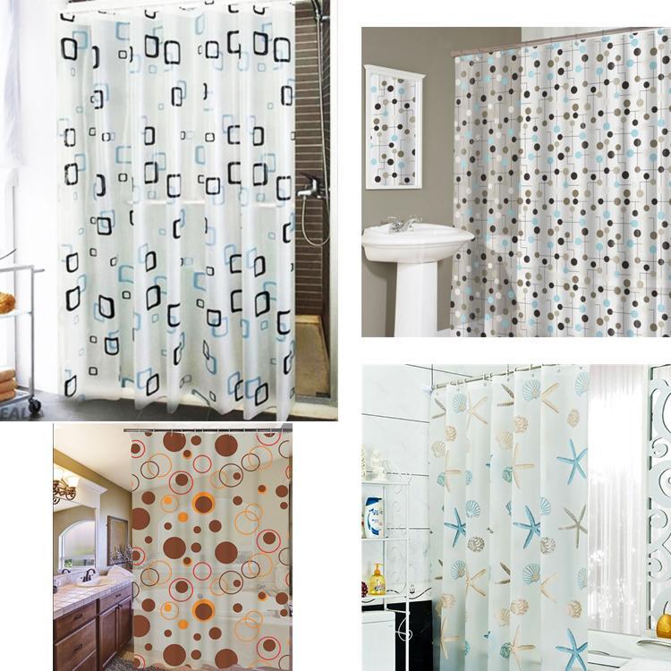 [Loại 1] Màn Treo Phòng Tắm nhiều màu sắc hoa văn (giao ngẫu nhiên)