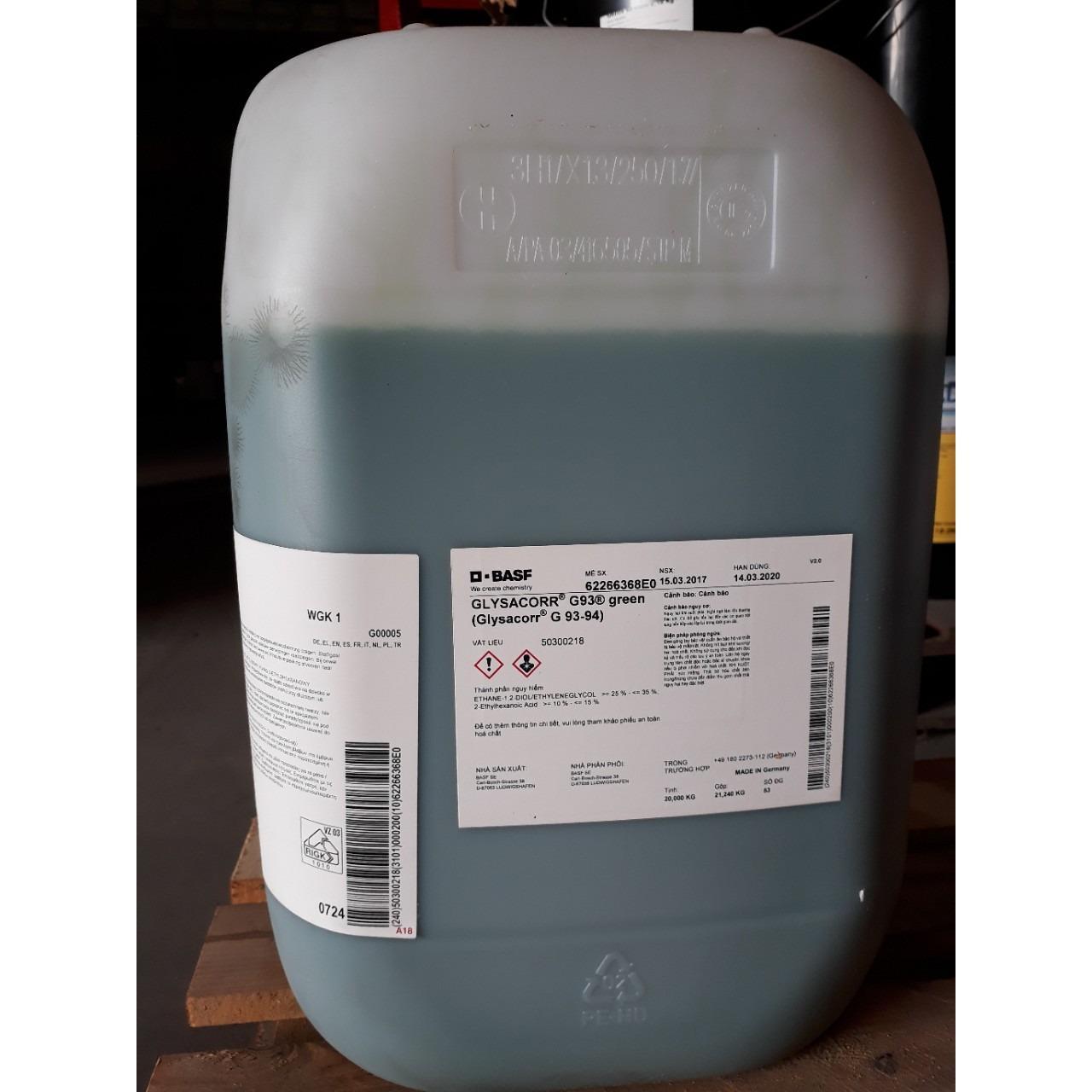 Nước làm mát động cơ BASF Glysacorr G9394 - can 20Kg