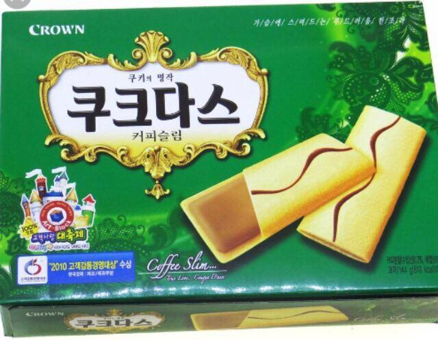 Bánh Crown Hàn Quốc Roasting Coffe Vanilla Milk 288g