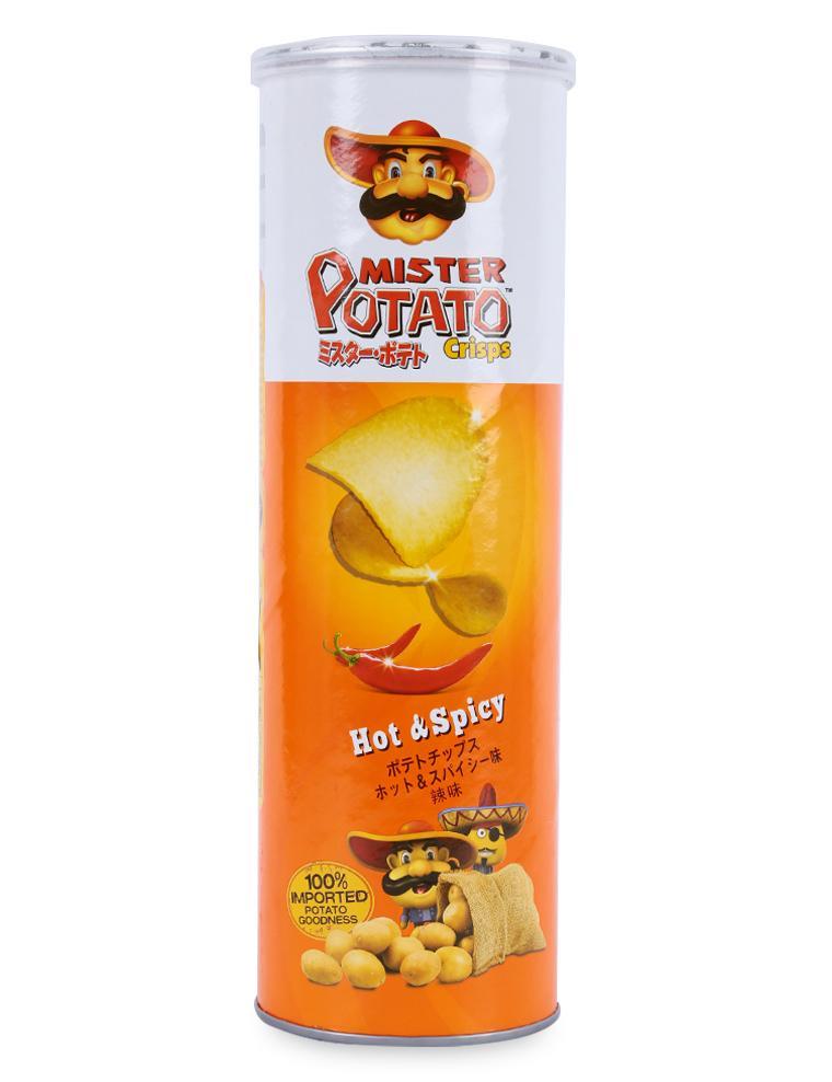 Bánh Snack Khoai Tây Chiên Mister Potato Crisps Hot & Spicy Hũ 160G