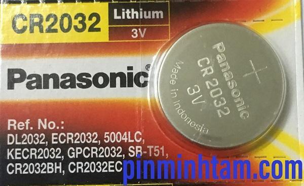 Pin CR2032 Panasonic - combo 5 Viên Made in Indonesia