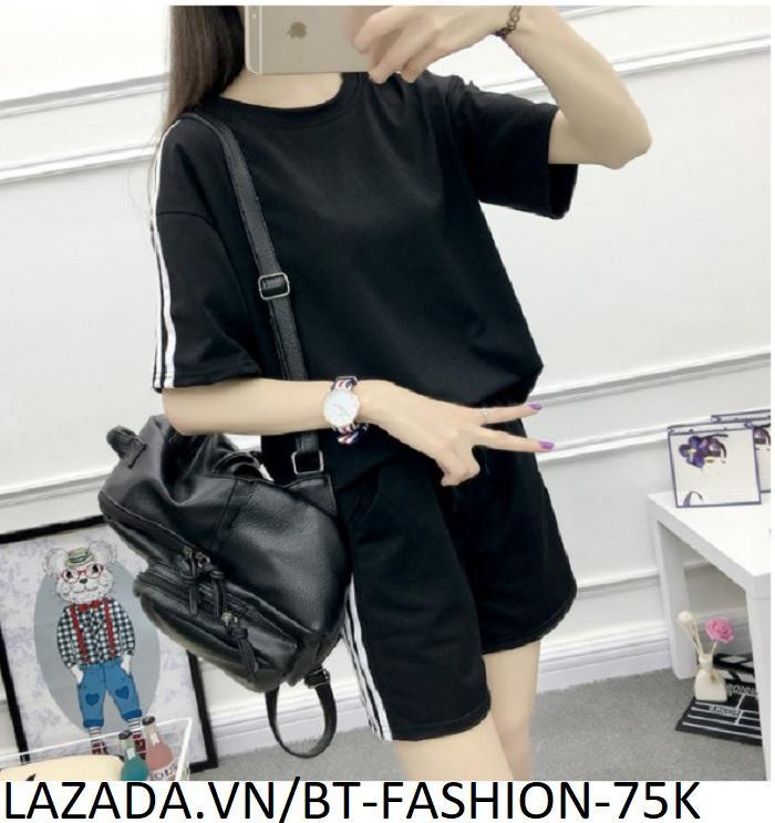 Đồ Bộ Áo Thun Nữ + Quần Đùi Sọt Thun Nữ Thể Thao, Ở Nhà, Đồ Ngủ Thời Trang Hàn Quốc Mới - BT Fashion (ĐN002)