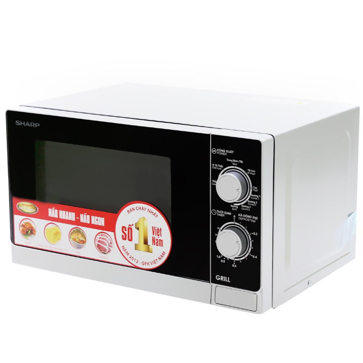 Lò vi sóng có nướng Sharp R-G222VN-S 20 lít