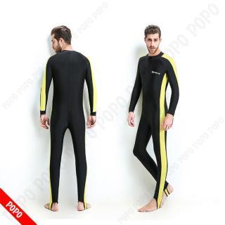 Quần áo lặn biển 1mm dài tay NAM Vàng, cản tia UV, chống nắng - POPO Collection thumbnail