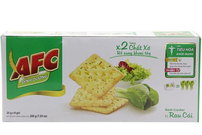 Bánh Cracker dinh dưỡng AFC vị rau 200g