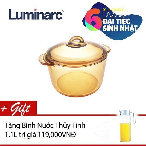 Nồi Thủy Tinh Luminarc Vitro Amberline Granite 3L