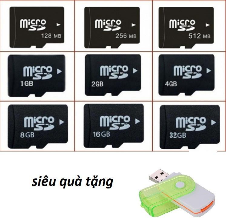 thẻ nhớ micro sd tặng đầu đọc thẻ xoay