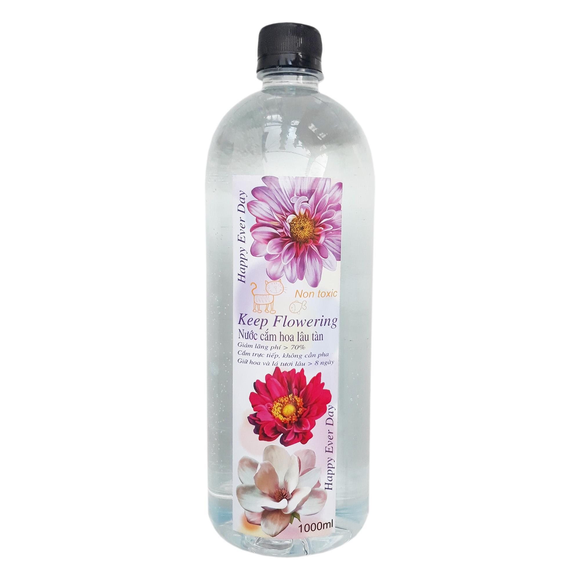Nước cắm hoa KEEP FLOWERING 1000ml- Giữ hoa tươi lâu