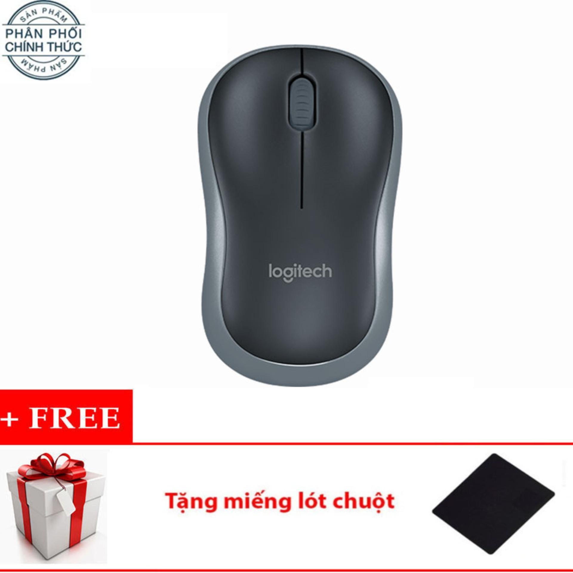 Chuột quang Logitech B175 (Đen) + Tặng miếng lót chuột