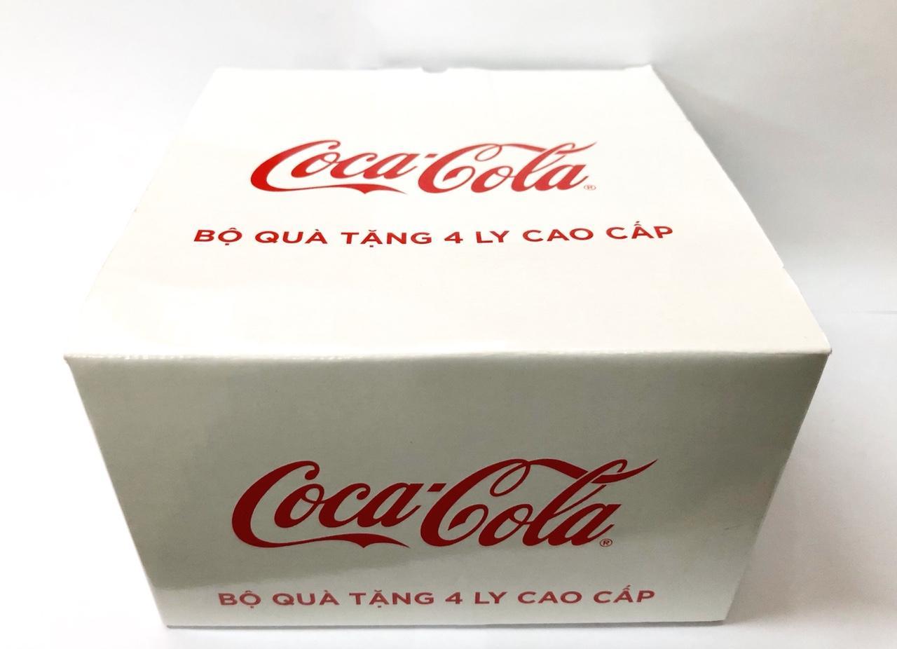 Bộ quà tặng 4 ly thủy tinh CocaCola