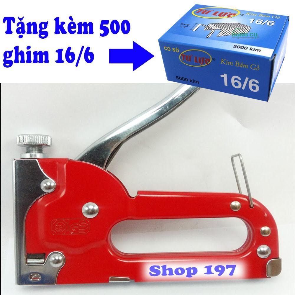 Mua S.ung ghim cam tay ST01 tặng kèm 500 ghim 16/6; S.ung bắn ghim cầm tay; máy bắn đinh ghim cầm tay
