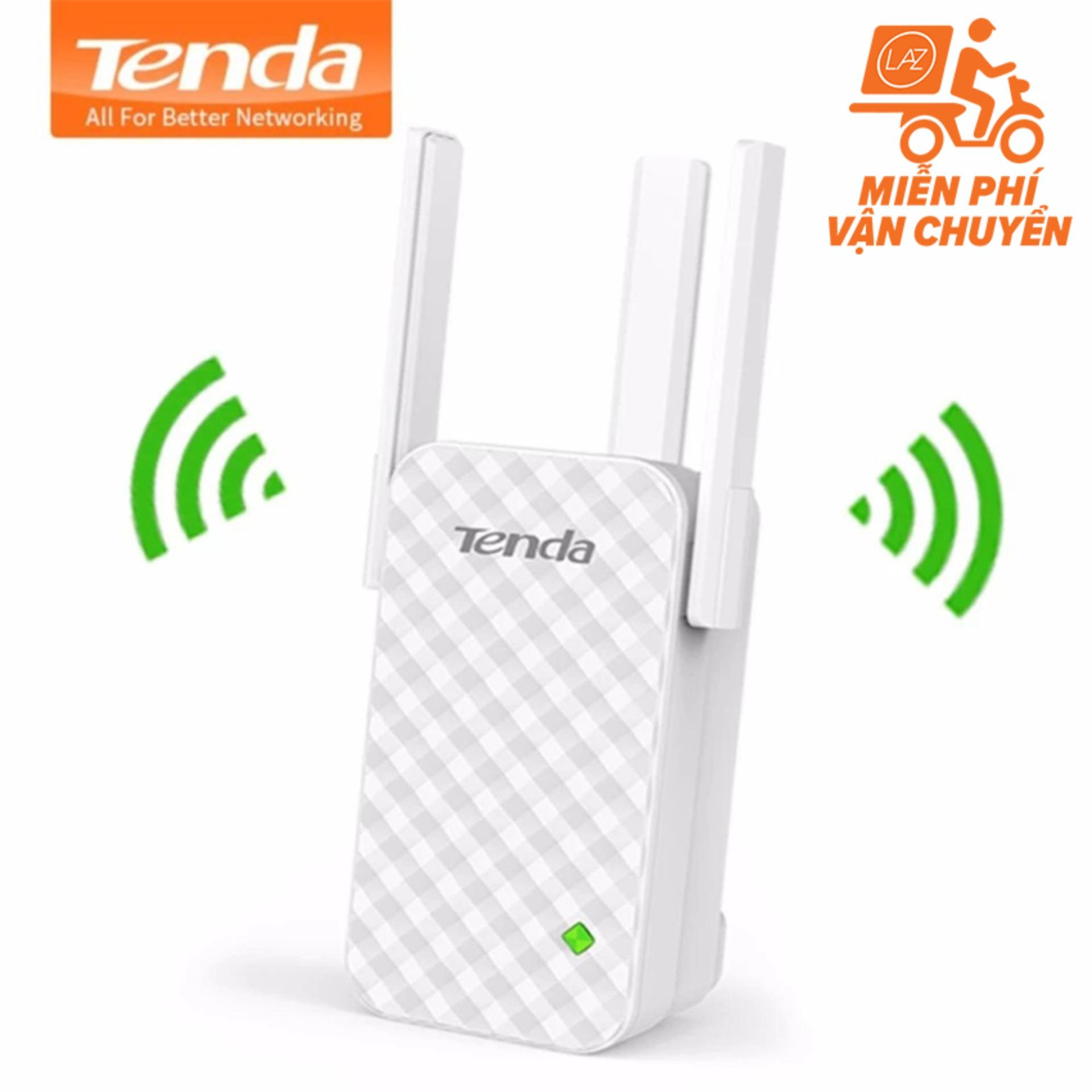 Bộ kích sóng, nối sóng Wifi Tenda A12 ba râu (Nâng cấp của Tenda A9) xuyên tường