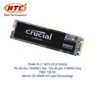 Ổ Cứng SSD M2 Crucial MX500 dung lượng 250GB - Chuẩn giao tiếp SATA III 6Gbit s (đen) - Nhất Tín Computer thumbnail