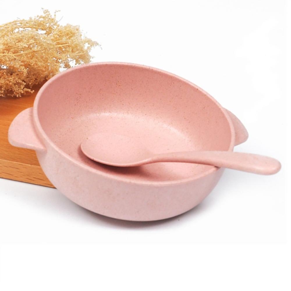 Bát ăn Kèm Thìa chất liệu lúa mạch KamiHome