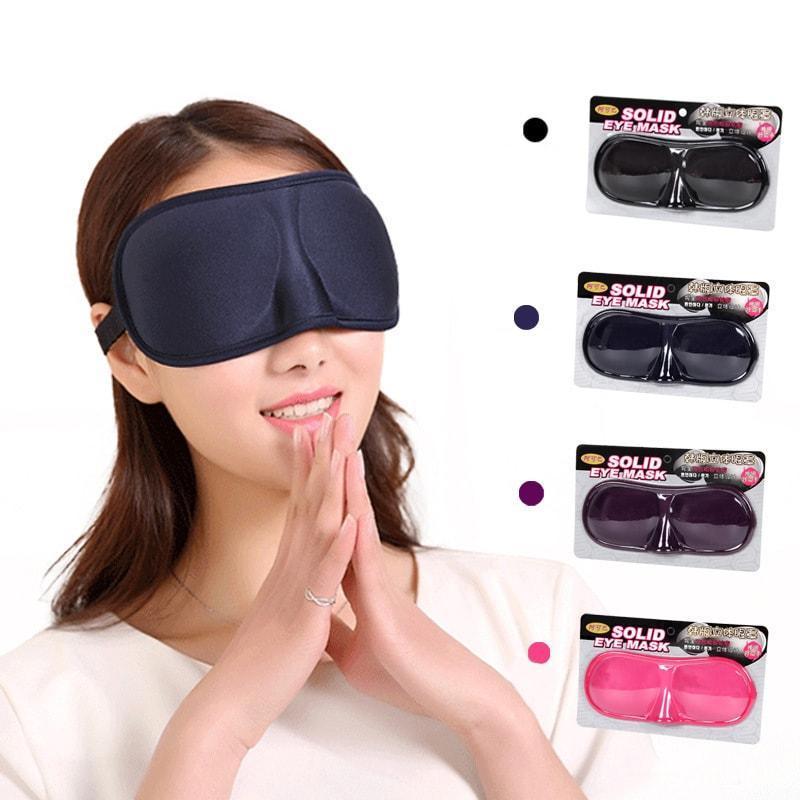 Mặt Nạ Bịt Mắt Mặt Nạ Che Mắt 3D Từ Vải Xốp Polyester Khi Đi Du Lịch Màu Đen MATNAMATDEN01