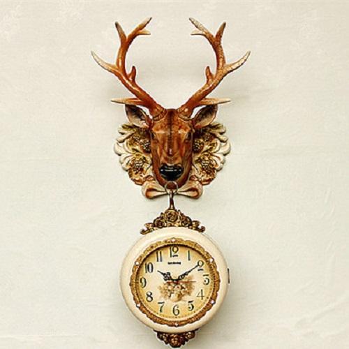đồng hồ treo tường 2 mặt con công