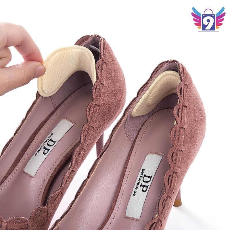 Miếng lót gót giày vải êm chống đau chân có keo dán mặt sau 9STORE