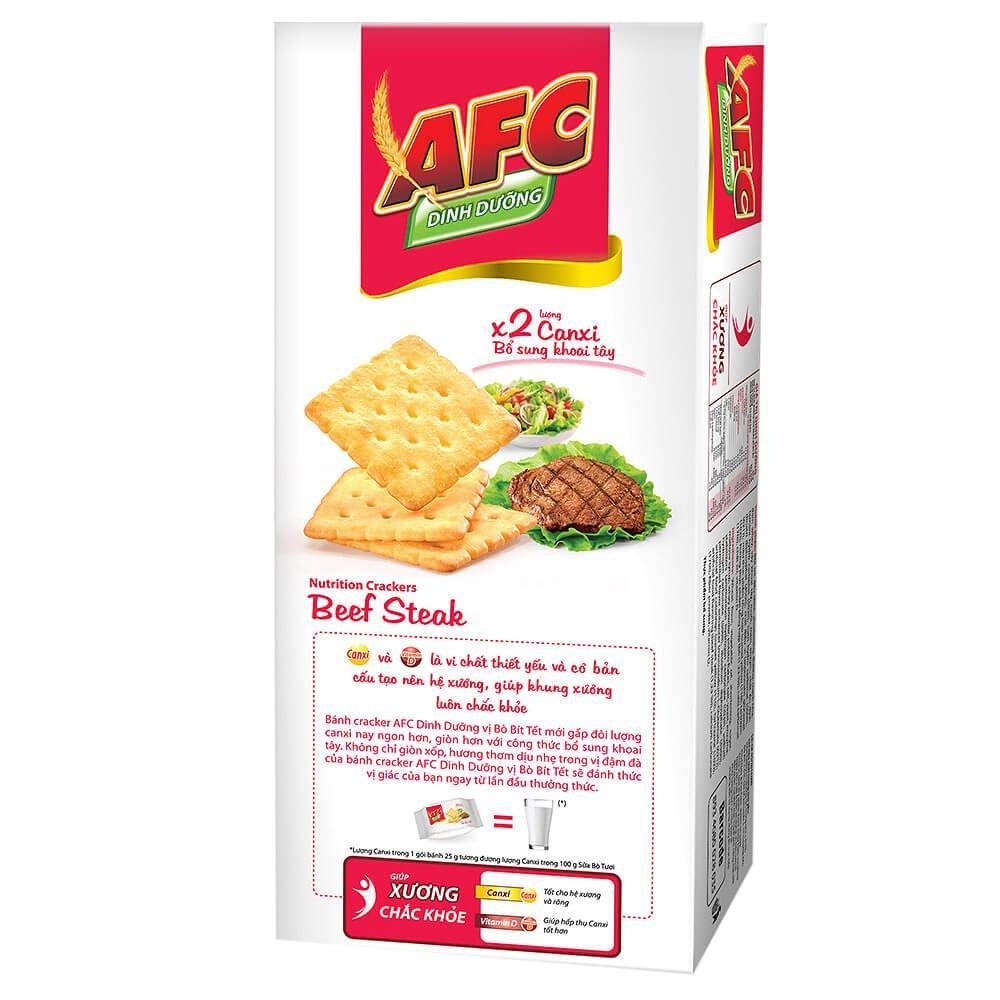 Bánh AFC Dinh Dưỡng Vị Bò Bít Tết Hộp 200g