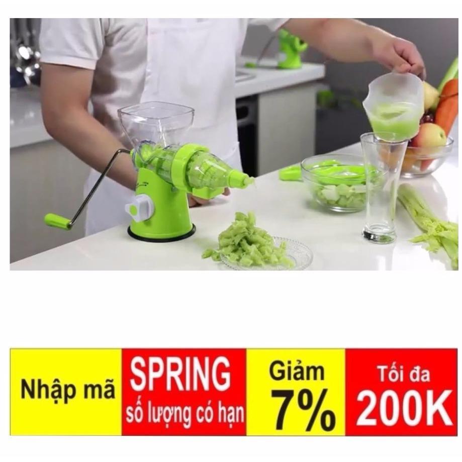 Máy xay ép hoa quả đa năng cầm tay Manual Juicer (Xanh lá) Loại 1 Cao Cấp Hàng Cao cấp