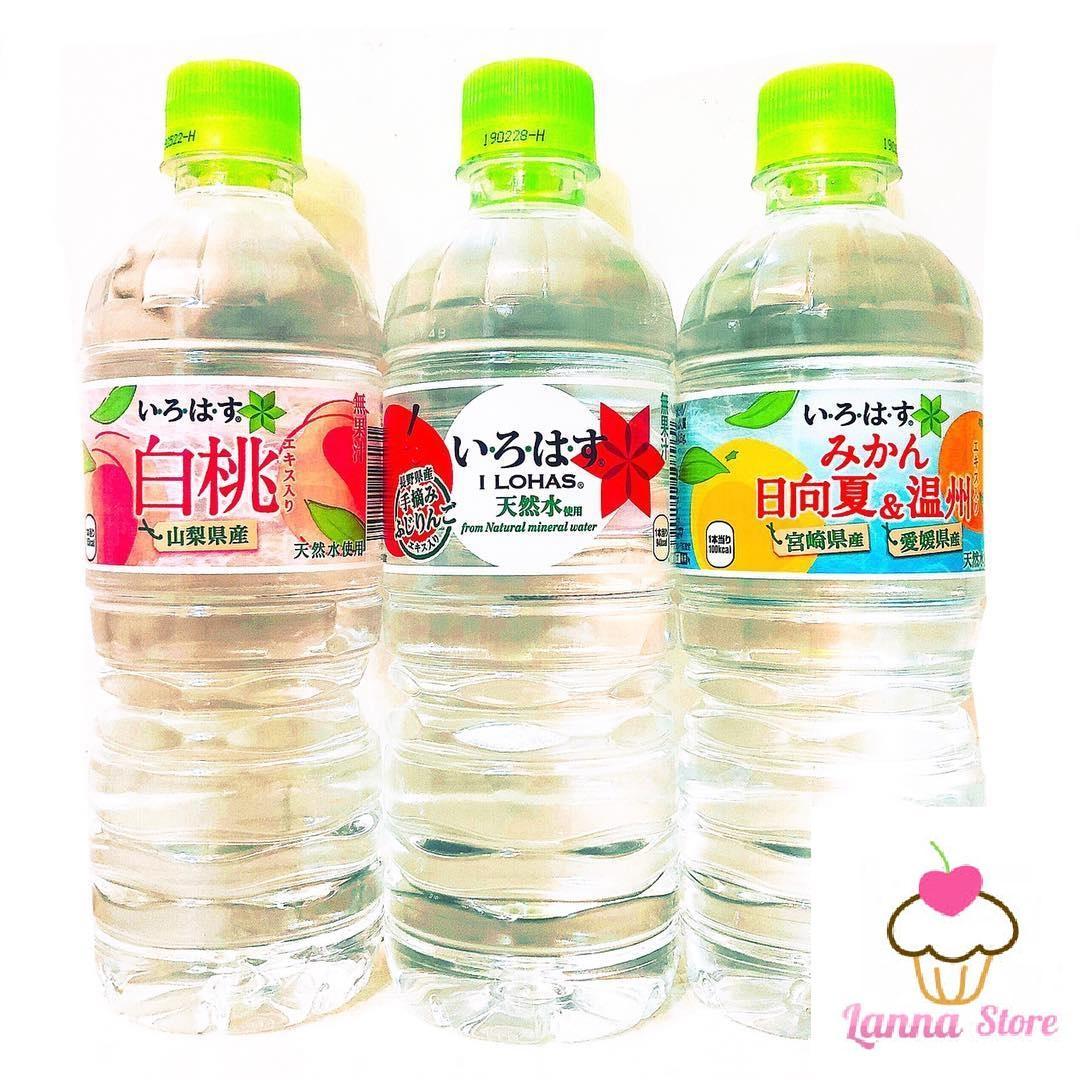 Nước suối trái cây Ilohas vị nước ép đào tươi COCA COLA  Nhật Bản