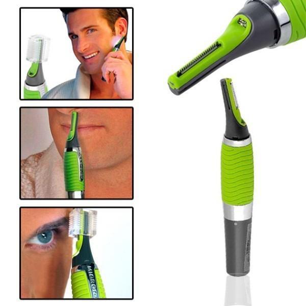 Dụng cụ cạo râu kiêm tỉa lông mũi tiện lợi có đèn soi