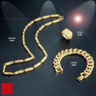 Bộ 03 COMBO ( Dây chuyền ống trúc - Nhẫn chữ phúc - Lắc tay ) Mạ vàng 24k công nghệ ITALY thumbnail