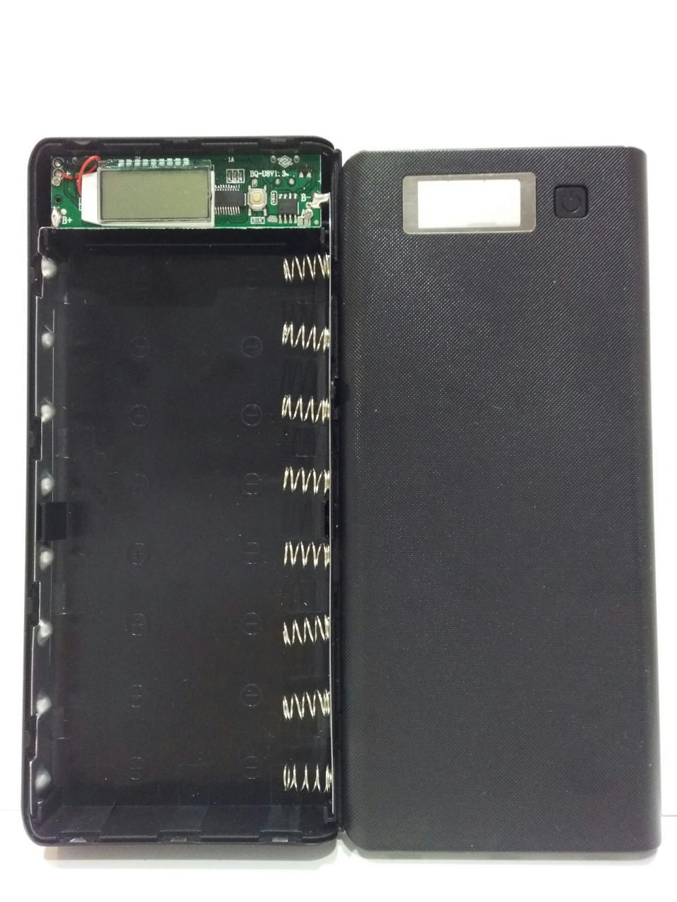 Khung 8 pin sạc dự phòng có LCD (Đen)