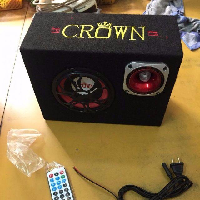 Loa Crown 5 Vuông Tặng Cáp Kết Nối Điện Thoại  USB Blutooth
