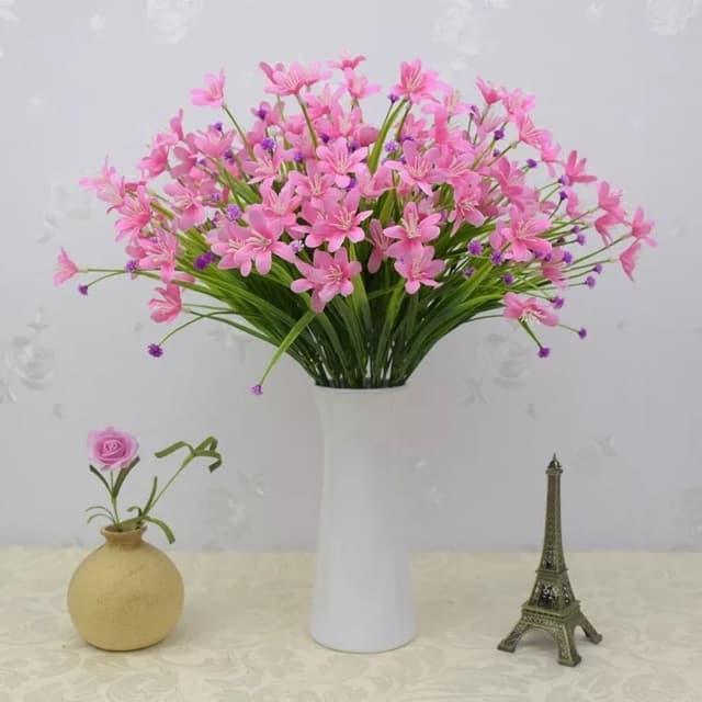 Hoa giả - Cành hoa thủy tiên siêu xinh HTT-35 (1 cành 24-28 bông hoa)