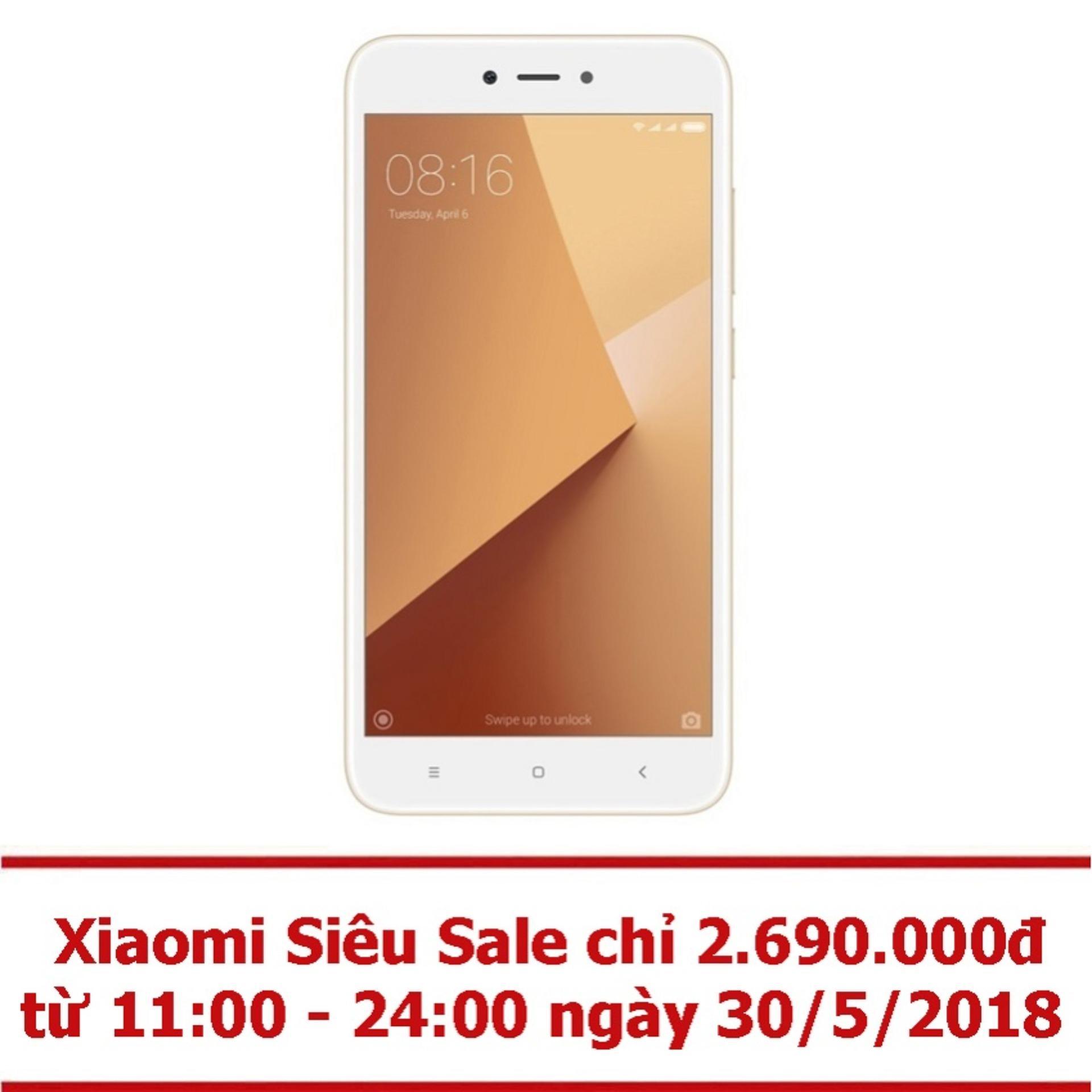 Xiaomi Redmi Note 5A 16GB 2GB (Vàng) - Hãng phân...