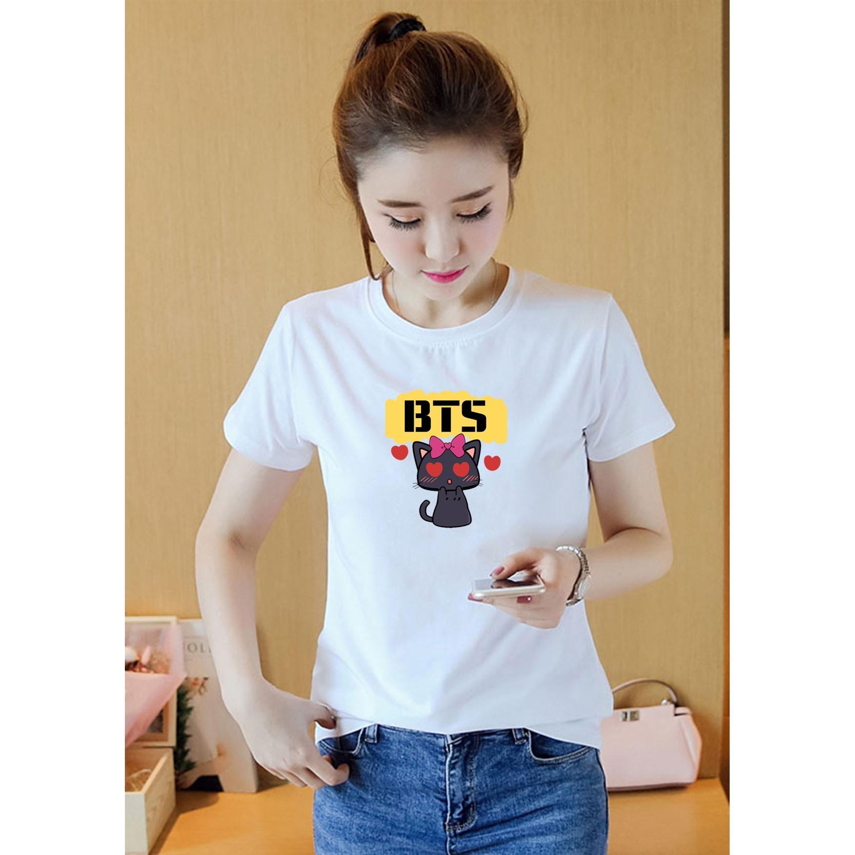 Áo Thun Phông nữ in hình BTS- ATNK811-808 Form Rộng Hàn Quốc AoThun102