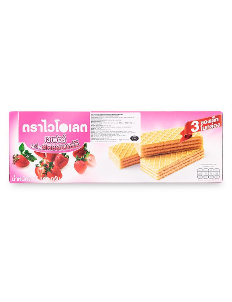 Bánh Xốp Violet Kem Hương Dâu Hộp 100G