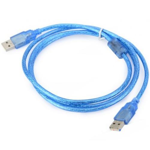 Dây 2 đầu usb màu xanh chống nhiễu bootrom dài 1,5m cho tivi box anroid