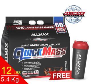 [THỰC PHẨM DINH DƯỠNG THỂ THAO] Whey Protein Tăng Cân Allmax Quickmass Chocolate 12 Lbs (5.44 kg) thumbnail