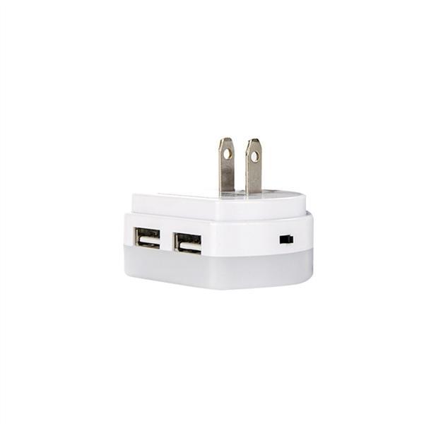 Giá treo tường Cắm ĐÈN LED Ngủ với Ánh Sáng Tự Động Hoàng Hôn đến Bình Minh Cảm Biến và Cổng USB Đôi Sạc dành cho Bé phòng Ngủ phòng Hành Lang Phòng Khách với Phích Cắm US (Trắng)