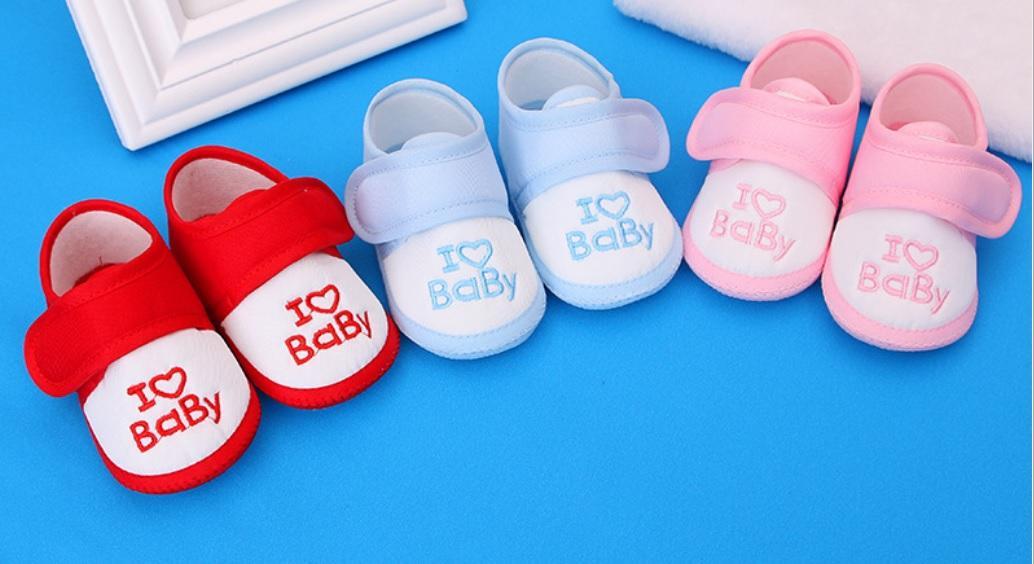 Giày tập đi vải mềm cho bé 0-1 tuổi, chân dài 11-12cm