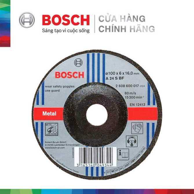 Đá mài Bosch 100x6x16mm (sắt)