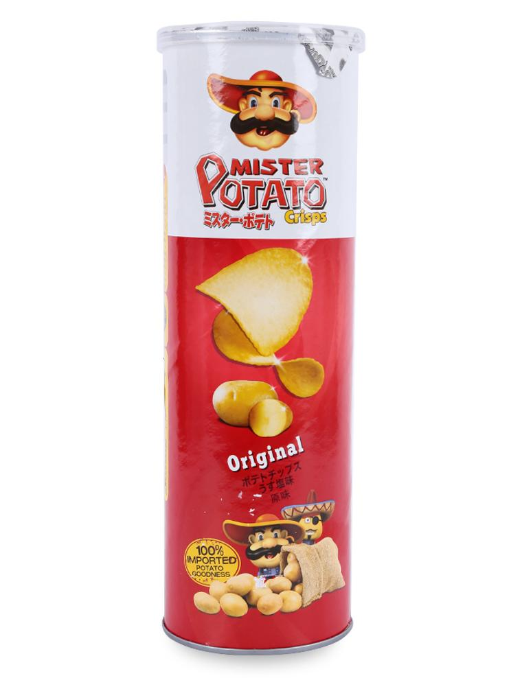 Bánh Snack Khoai Tây Chiên Mister Potato Crisps Original Hũ 160G