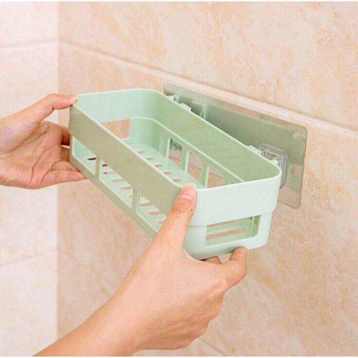 Kệ nhựa treo tường nhà tắm, nhà bếp dán tường chịu lực